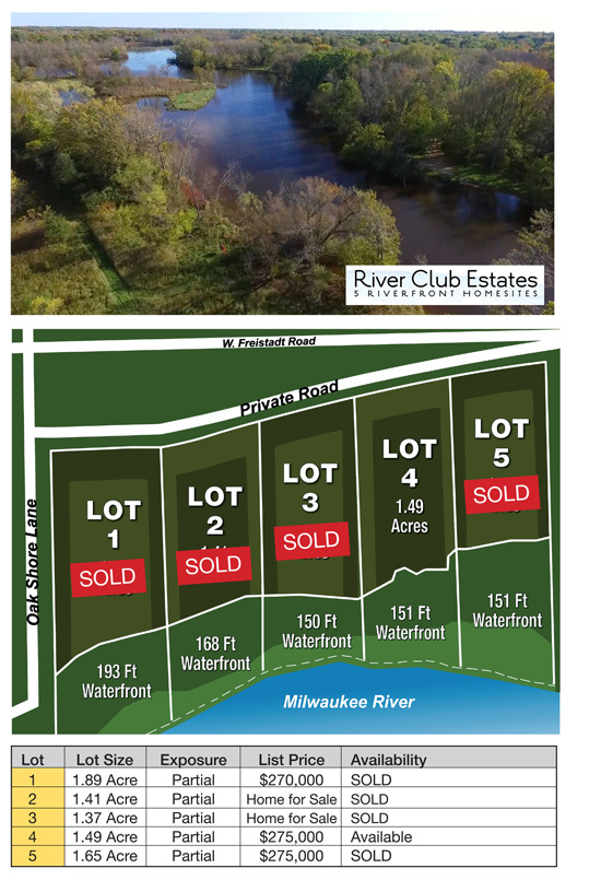 River Club Estates Subdivision - Mequon - land for sale - Allan Builders - Affordable home builder Milwaukee