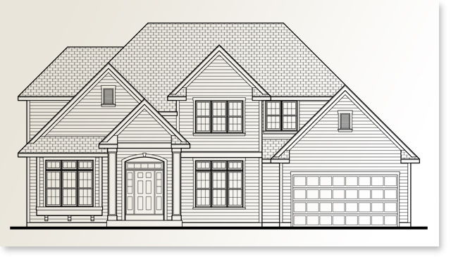 Brentwood Standard home plan by Allan Builders