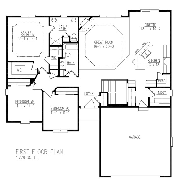 Sinclaire floor plan