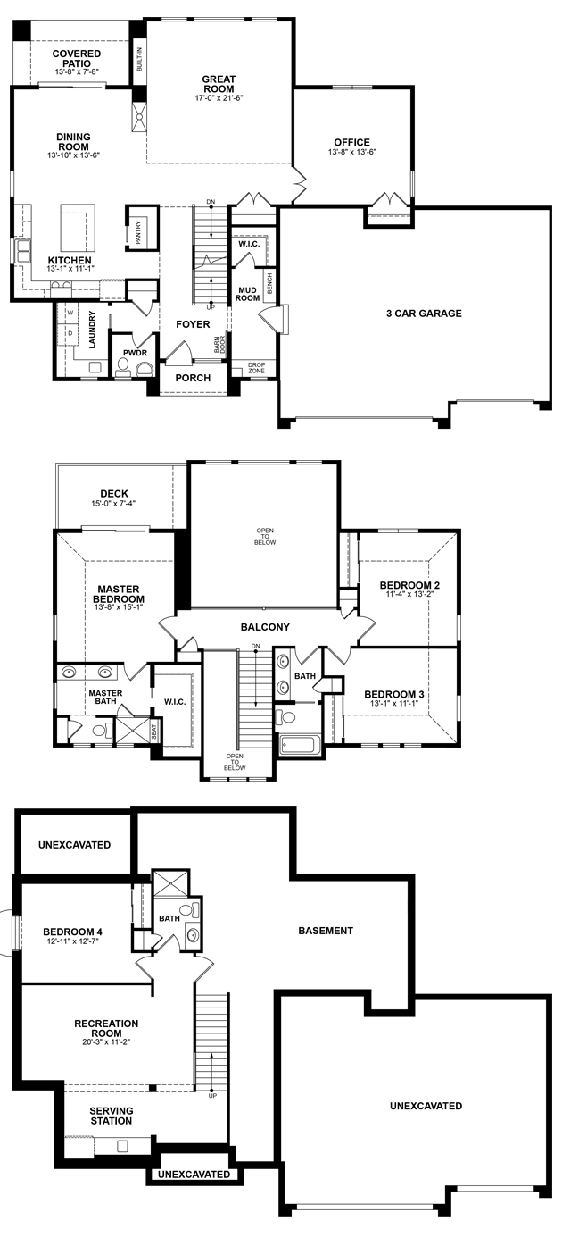 Bria Parade Model floor plan - By Allan Builders - Affordable Home Builders - Milwaukee, Wisconsin