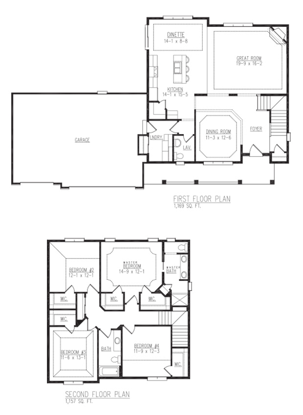 Fairfield Model floor plan - By Allan Builders - Affordable Home Builders - Milwaukee, Wisconsin