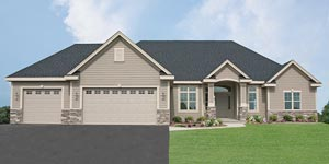 Allan Builders - The Charleston Model - Aster Hills Subdivision